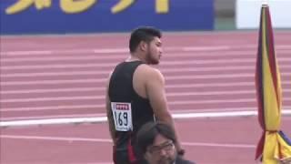 4 山元 隼 愛 知 中京大クラブ 17m34 男子 砲丸投 決勝 □競技時刻 : 201...