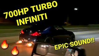 RIPPING A BUILT TURBO INFINITI…