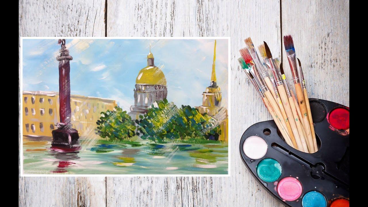санкт-петербурга поэтапно рисунки