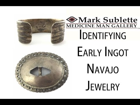 Native American Indian Jewelry: How To Identify Antique Ingot Navajo Jewelry