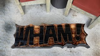 Carving the Wham! Bench