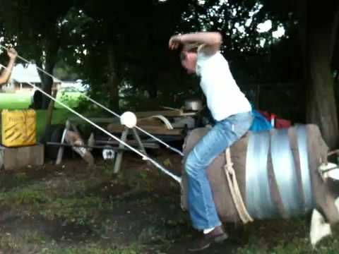 Bucking Barrel We Made At School I Got The Test Run Doovi