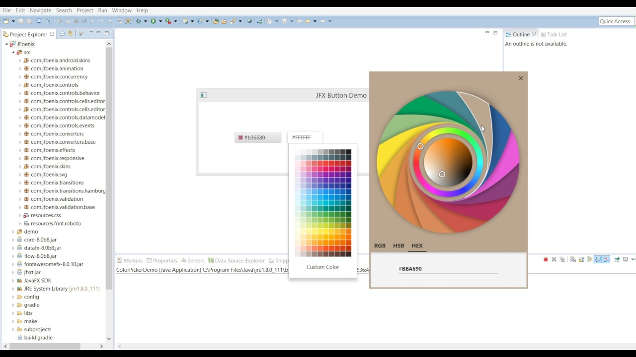 How to run JFoenix demo in Eclipse - JavaFX Material Design Library