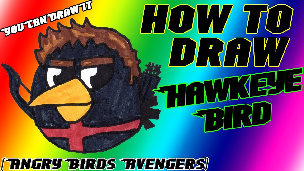 How To Draw Hawkeye Bird From Angry Birds Avengers