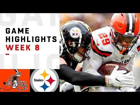 Browns vs. Steelers Week 8 Highlights | NFL 2018