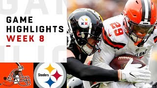 Browns vs. Steelers Week 8 Highlights | NFL 2018