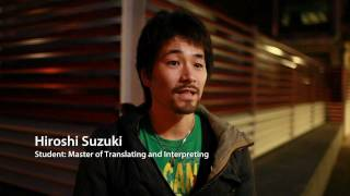 Masters in Translating and Interpreting - Become a professional translator(http://www.mq.edu.au/ The translating and interpreting program is designed to meet the needs of those who have good linguistic skills and are seeking to ..., 2011-09-21T01:37:26.000Z)
