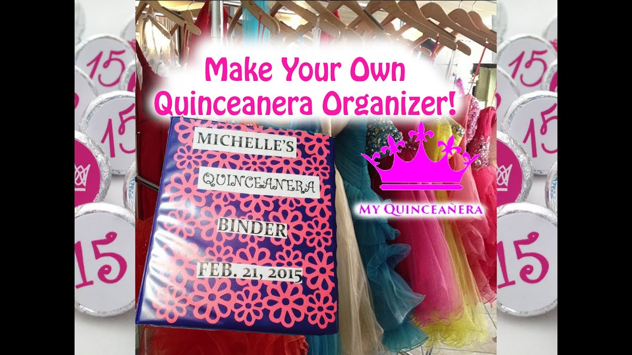 picture about Printable Quinceanera Checklist called Do-it-yourself Quinceanera Organizer/Planner!
