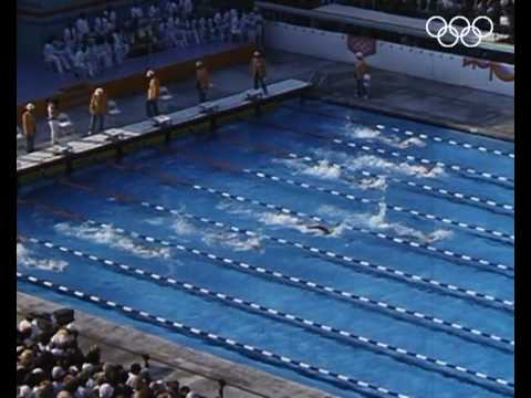 'The Albatross' Michael Gross Wins 200m Freestyle Gold  Los Angeles 1984 Olympics