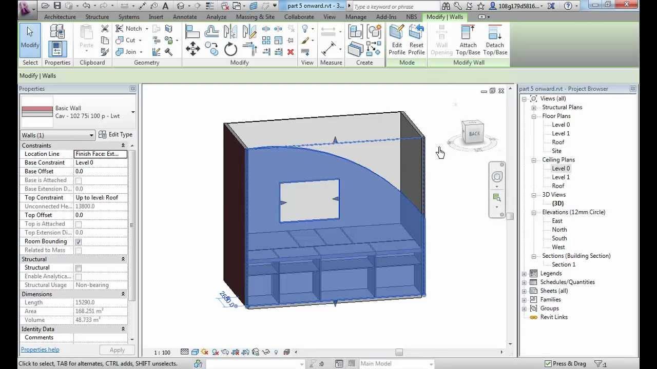 revit 1-6 Floors, Ceilings & Editing Walls