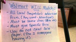 Wal-mart: How to save money by ad-matching!