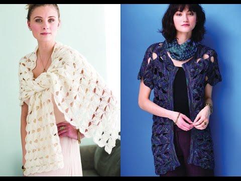 Tutorial for Leaf Morif Wrap, Vogue Knitting Spring/Summer 2016 #3 & #5 Open Front Cardigan
