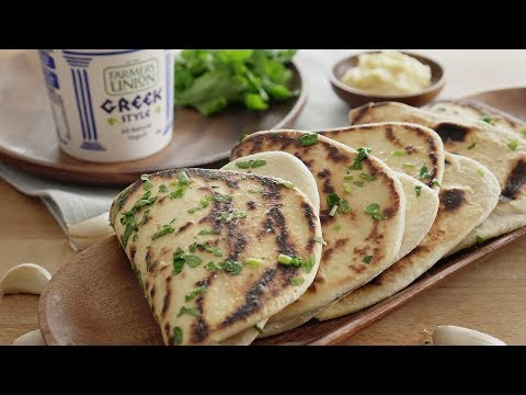 Greek Style Yogurt Flatbread 酸奶大蒜饼