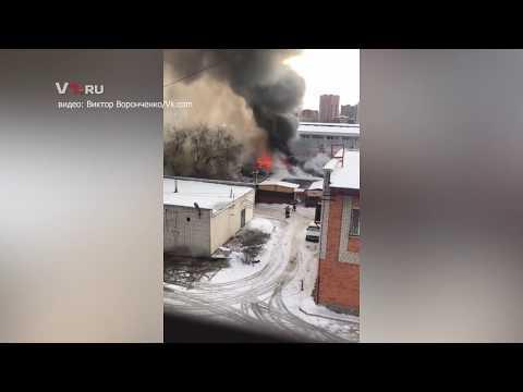 Пожар рядом с ТЦ в Волгограде