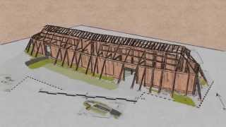 Viking Longhouse construction