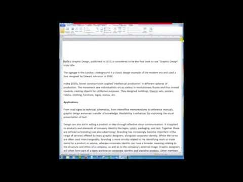 Advanced Word. Create A Master Document And Insert Other Documents