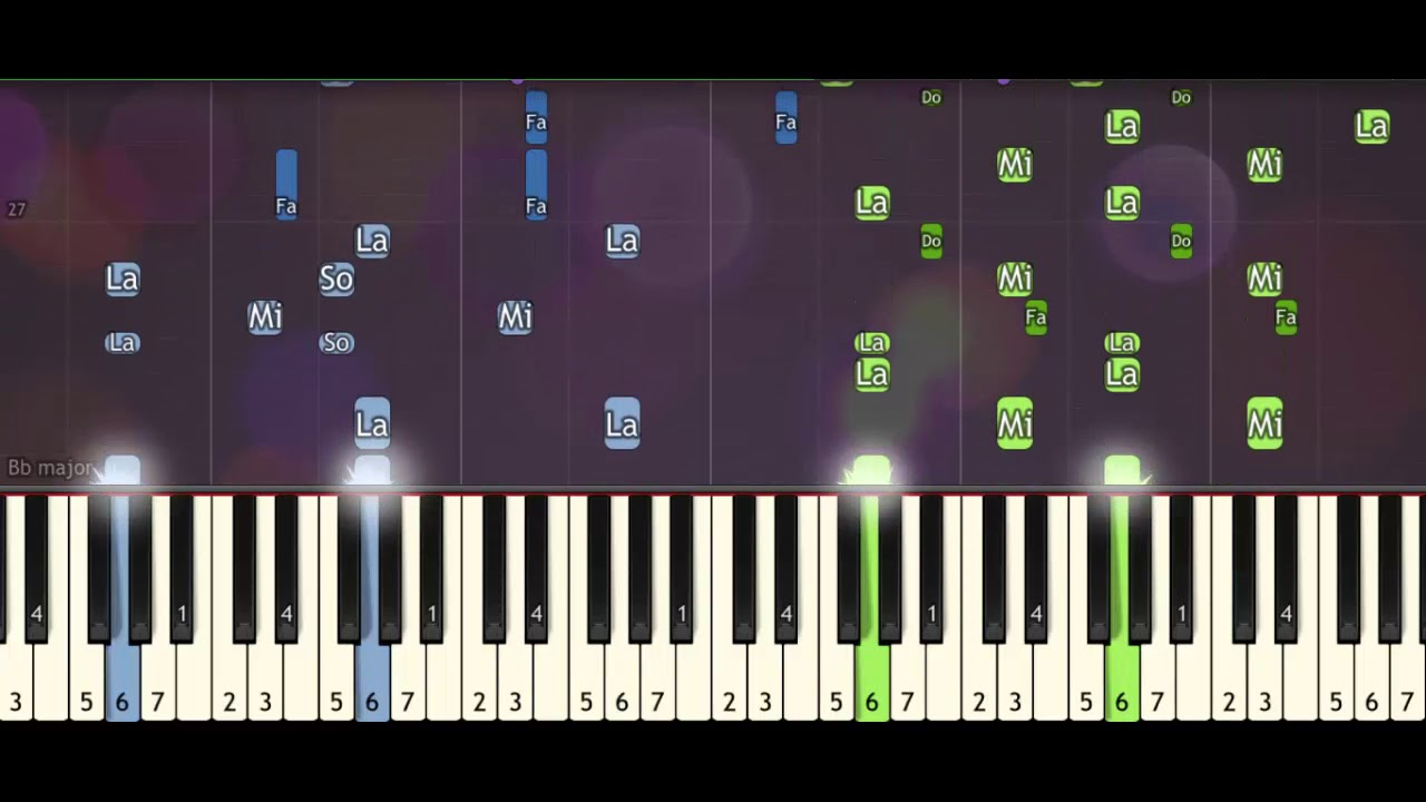 Download Monster vs Alient President's scene (piano acoustic) synthesia tutorial