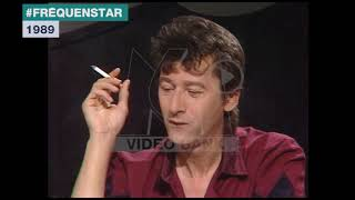 Extrait archives M6 Video Bank //  Alain Bashung - Humour et influences musicales (Fréquenstar-1989)