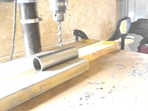 Drilling Holes in Pipe