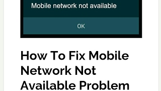 How to fix mobile network not available and not registered network(in Hindi)