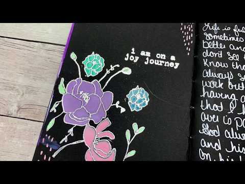 Black Mixed Paper Travelers Notebook Mixed Media Tutorial
