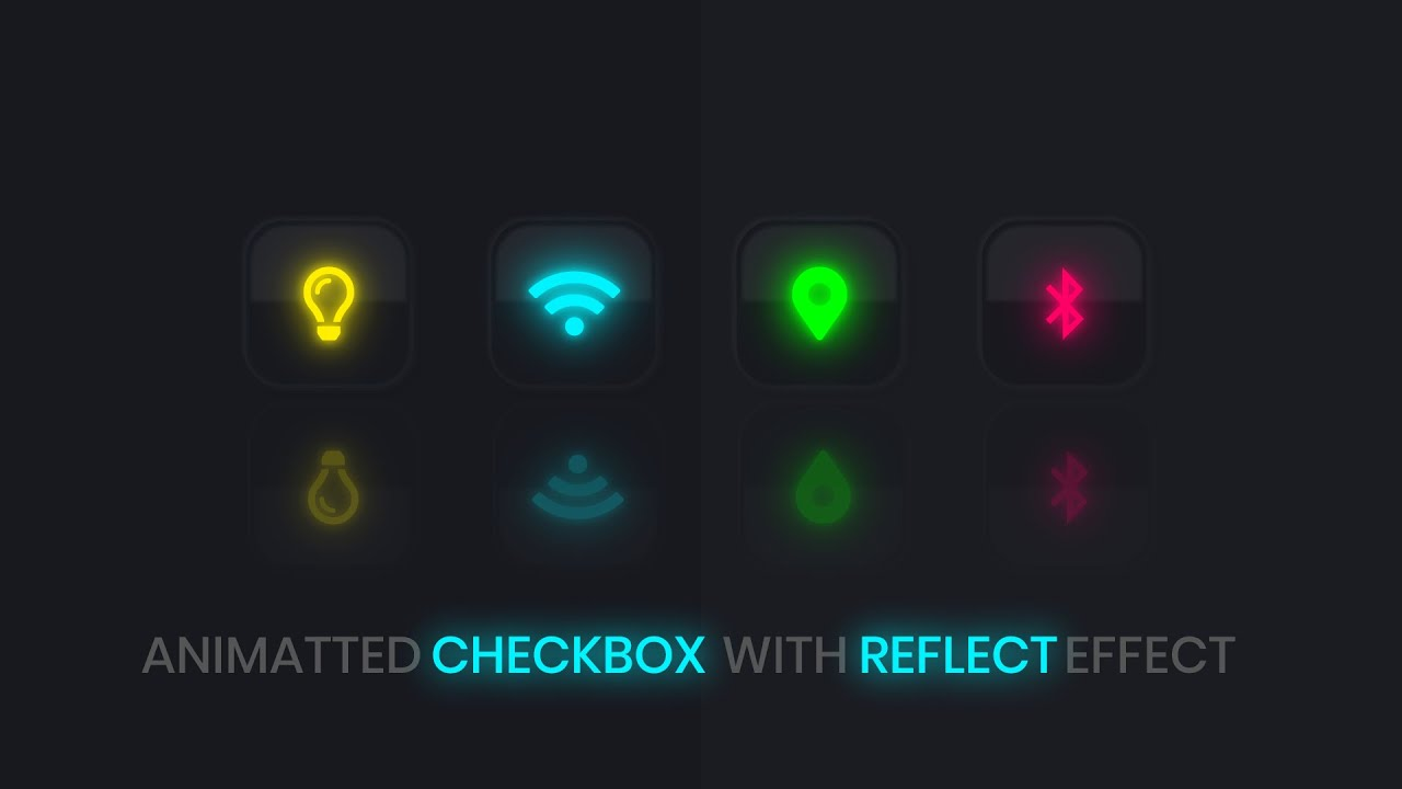 Glowing Checkbox UI Design using HTML and CSS Only | CSS Animated Checkbox | Neon reflect