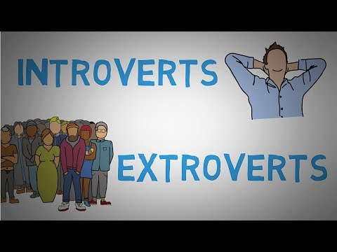 Introvert vs Extrovert - Difference Between Introverts and Extroverts (animated)