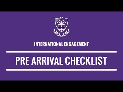 UCA - New International Student Pre-Arrival Checklist