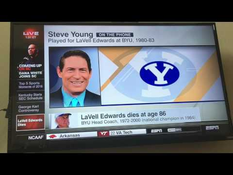 LaVell Edwards Coverage (ESPN)