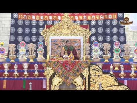 HH the Sakya Trizin Bestows the Muni Trisamaya Vyuha Empowerment (English)