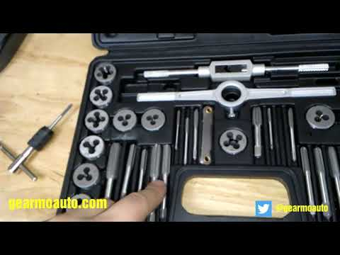 Harbor Freight Tap And Die Set Review Youtube