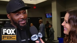Dez Bryant shouts out Errol Spence Jr. after his PPV win over Mikey Garcia | INTERVIEW | PBC ON FOX