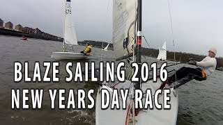 Wilsonians Chilli Willies New years day dinghy race 2016. Ian was out in his Blaze