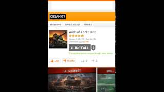 How to install world of tanks blitz for android