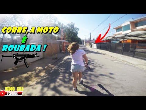 INTERESSEIRA DA HORNET, A CASA CAIU,A MOTO É ROUBADA ! DIOGO 305