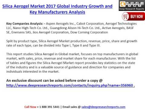 Global Silica Aerogel Industry Key Manufacturers and Forecasts to 2022