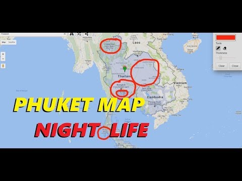 PHUKET THAILAND NIGHT LIFE MAP - Explained in detail and a 500 baht cappuccino.