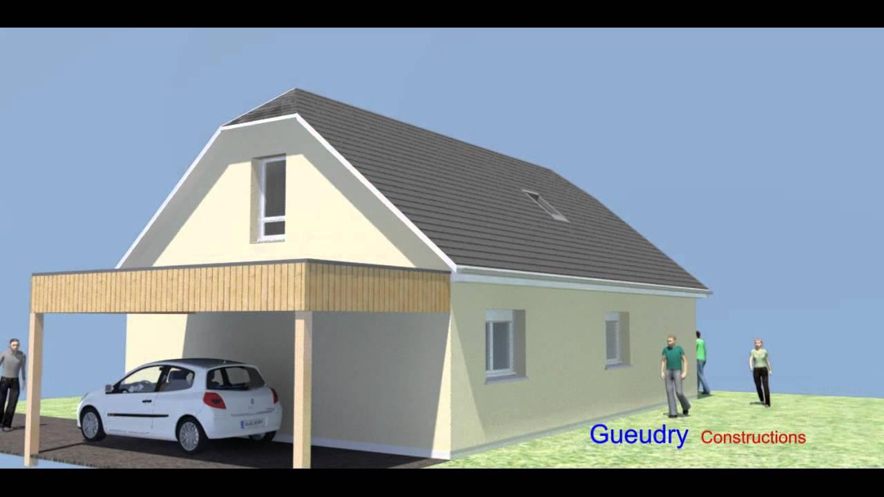 gueudry constructions maison mod le oslo ou bogota youtube. Black Bedroom Furniture Sets. Home Design Ideas
