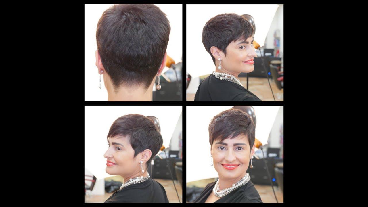 women's haircut tutorial - pixie