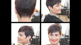 Women's Haircut Tutorial - Pixie Haircut - TheSalonGuy