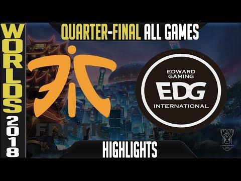FNC vs EDG Highlights ALL GAMES | Worlds 2018 Quarter-Final | Fnatic vs Edward Gaming