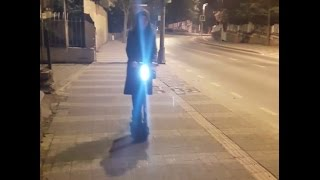 airbike ali5 v2 electric scooter night tour with ali5 and having fun