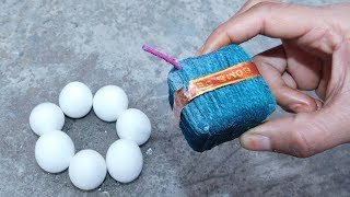 Sutli Bomb Crackers With Eggs Science Experiments