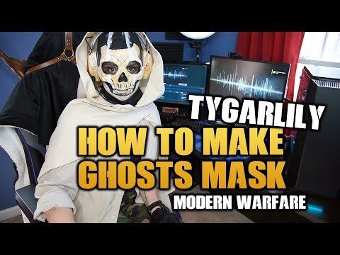 How To Make Ghost S Mask Modern Warfare Youtube