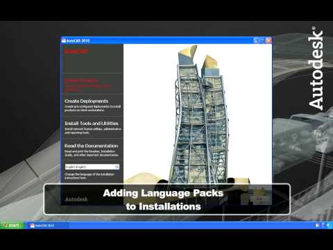Multiple Language Support in AutoCAD 2010
