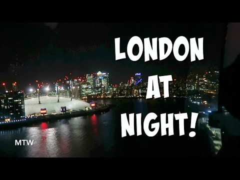 Emirates Cable Car at Night! - September 21, 2018 - MeetTheWengers Daily Vlog