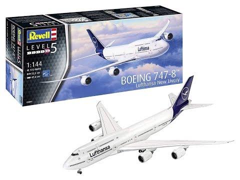 "Обзор масштабной модели самолета ""Boeing 747-8"" фирмы ""Revell"" в 1/144 масштабе."