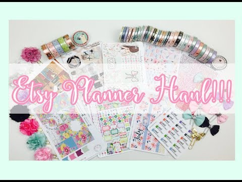 Etsy Planner Haul! Washi, Planner Clips and Stickers!!
