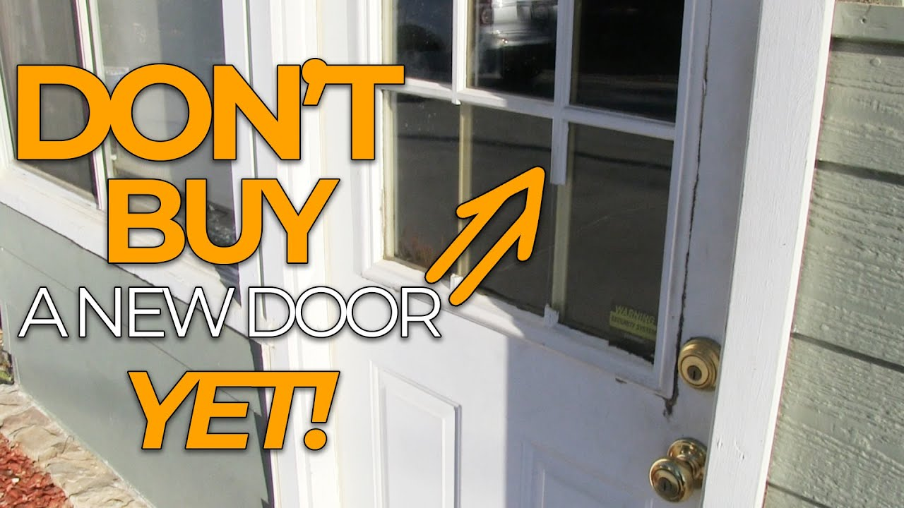 How To Replace A Door Window Frame Diy Door Fix Youtube