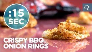 Crispy Bbq Onion Rings Recipe - #15secondrecipe